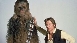 Herec Harrison Ford na zábere z filmu Hviezdne vojny