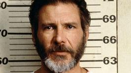 Herec Harrison Ford na zábere z filmu Utečenec z roku 1993.