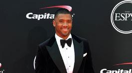 Hráč tímu Seattle Seahawks Russell Wilson na vyhlásení cien ESPYS.