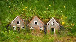 Island, dom, Skanzen v Skógare, domčeky, hračka, bývanie, domy,