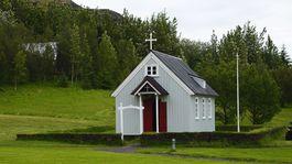 Island, dom, Skanzen v Skógare, kostol, chrám, kaplnka