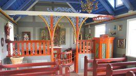 Island, Skanzen v Skógare, kostol, chrám, oltár, cirkev, omša