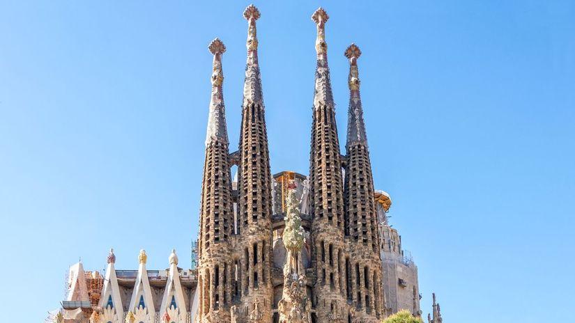 Španielsko, Barcelona, Sagrada Familia, chrám,...