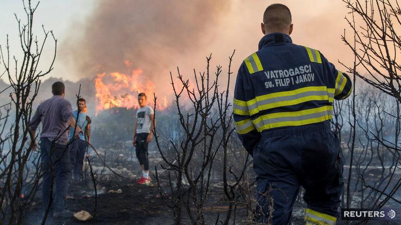 Chorvátsko, požiar