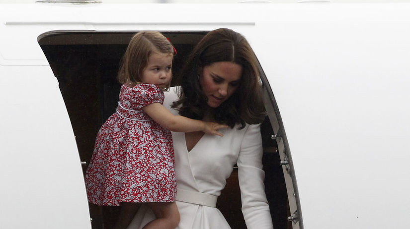 Vojvodkyňa Catherine s dcérkou, princeznou...
