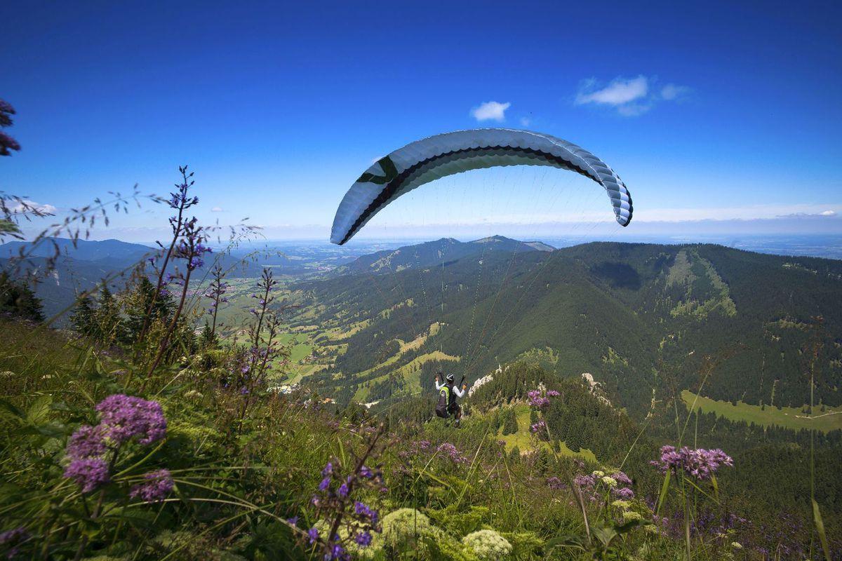 paraglajding, paraglider, rogalo, lietanie príroda, lúky, hory