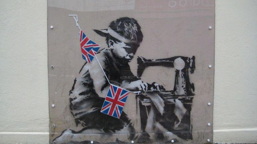 banksy, londýn, kresba