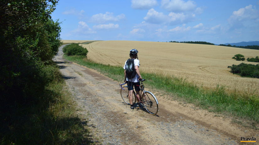 cyklista, bicykel, poľná cesta, cyklotrasa,...