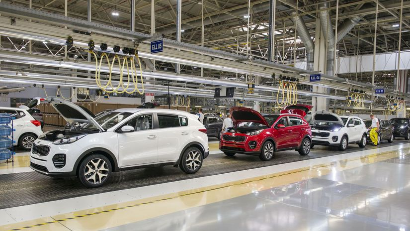 KIA, autá, výroba
