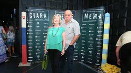 Na premiére nechýbal ani herec Andy Hryc a jeho manželka Veronika.