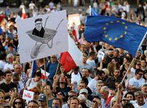 polsko, protest, demonštrácia,