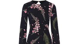 Šaty s dlhým rukávom a výrazným kvetinovým vzorom Rachel Zoe