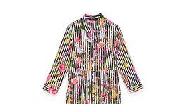 Šaty s dlhým rukávom a výrazným kvetinovým vzorom Zara - cena 39,95 eur.