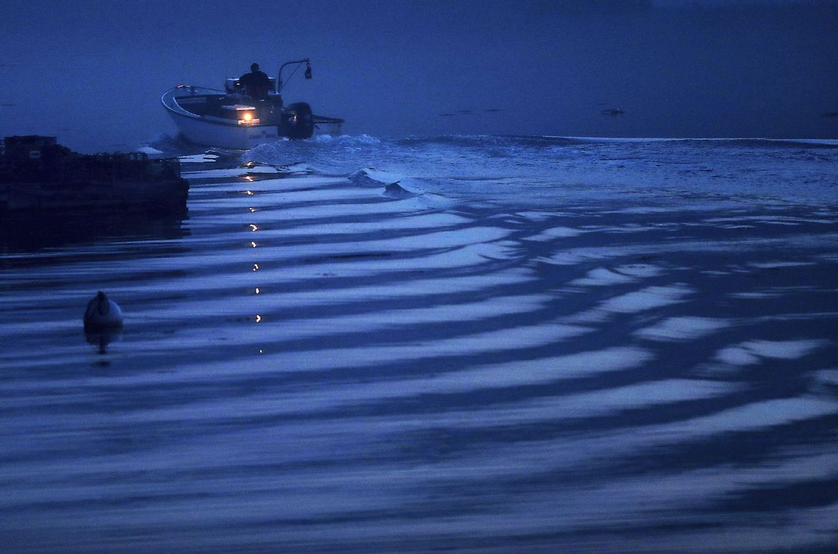 čln, loď, rybár, Maine