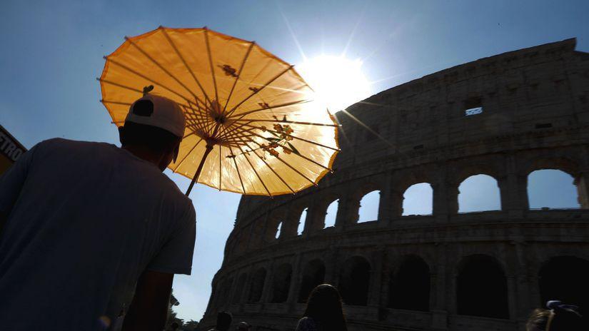 Rím, Taliansko, koloseum, Japonka, slnečník