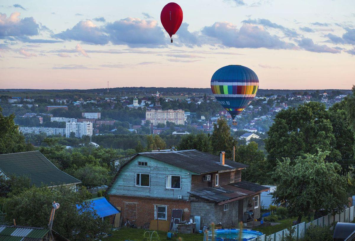Rusko, teplovzdušné balóny, lietanie, let,