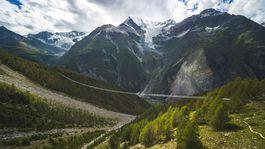 Švajčiarsko, Alpy, visutý most, Grächen, Zermatt