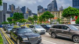 Singapur, autá, parkovisko