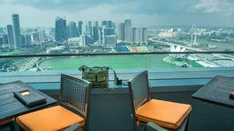 Singapur, Marina Bay, mesto, terasa, zátoka, mrakodrap, vyhliadka