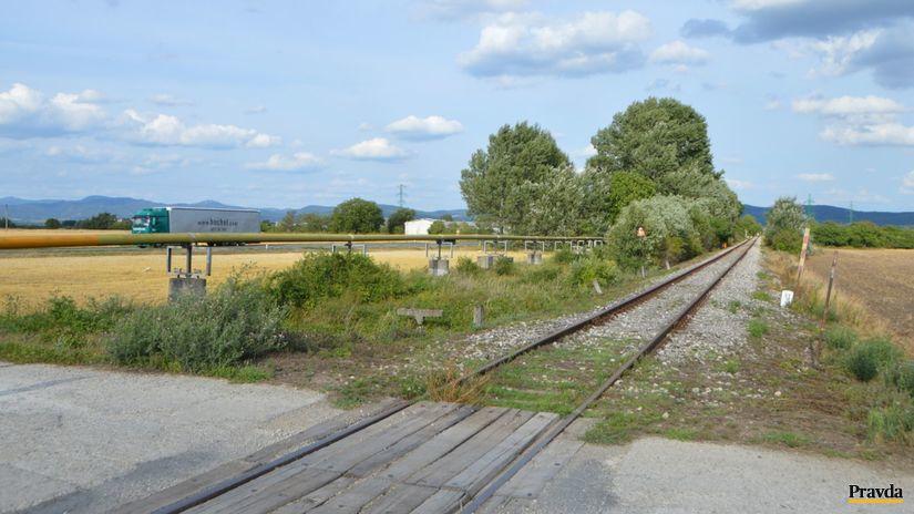 piešťany, vrbové, železnica, cyklotrasa