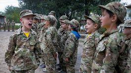 deti, ukrajina, trening, tabor, armada