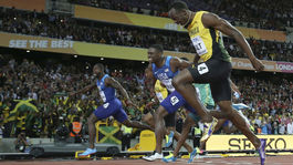 Usain Bolt, Justin Gatlin, cieľ