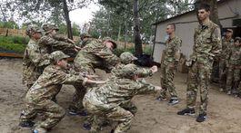 výcvik, deti, ukrajina, armada, tabor