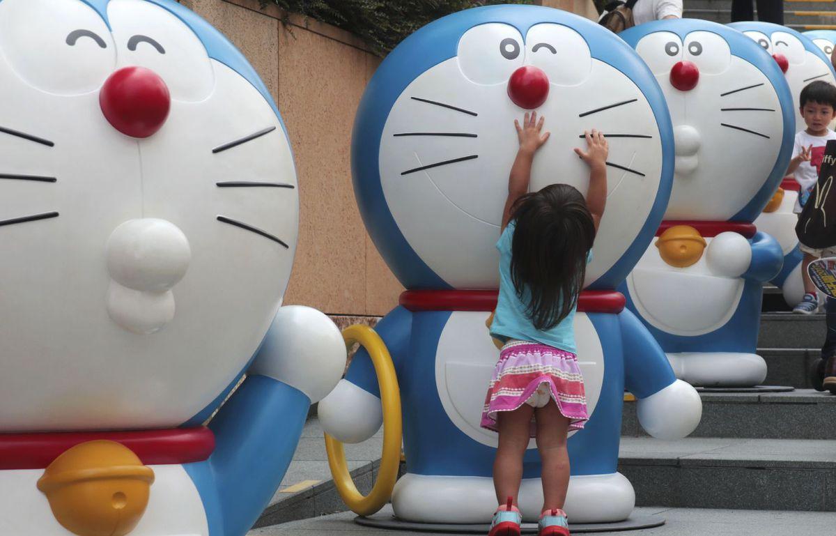 Japonsko, mačky, dieťa, dievčatko