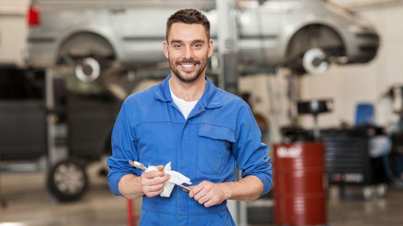 muž, práca, auto, mechanik