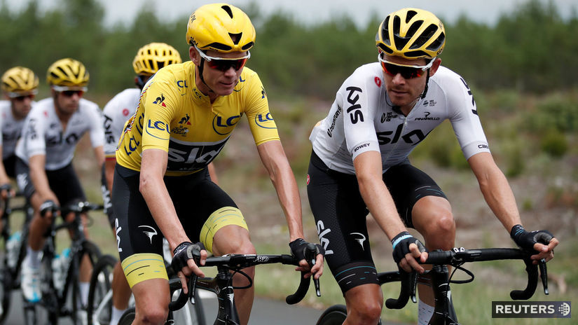 Luke Rowe, Chris Froome
