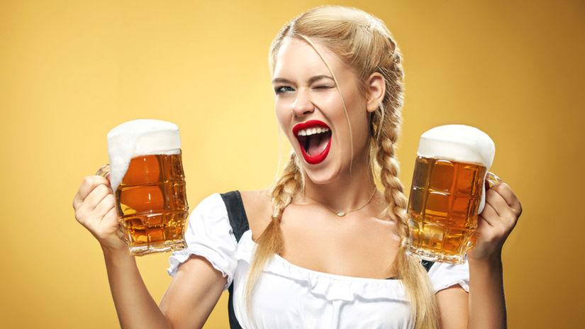 pivo, krígeľ, výčap, alkohol, čašníčka, Nemka,...