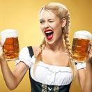 pivo, krígeľ, výčap, alkohol, čašníčka, Nemka, Nemecko, Oktoberfest, chmeľ
