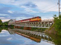 vlak, cesta, zeleznica
