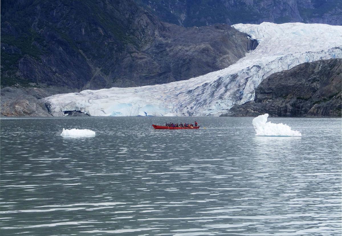 Aljaška, loď, čln, more, kajak, ľadovce, ľadovec