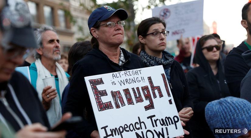 usa, protest, demonštrácia, rasizmus, trump,