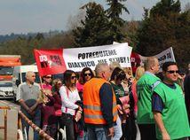 protesty, výstavba, diaľnica D3