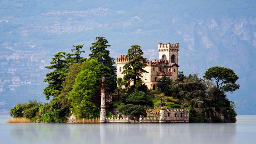Isola di Loreto, Jazero Iseo, ostrov, Taliansko