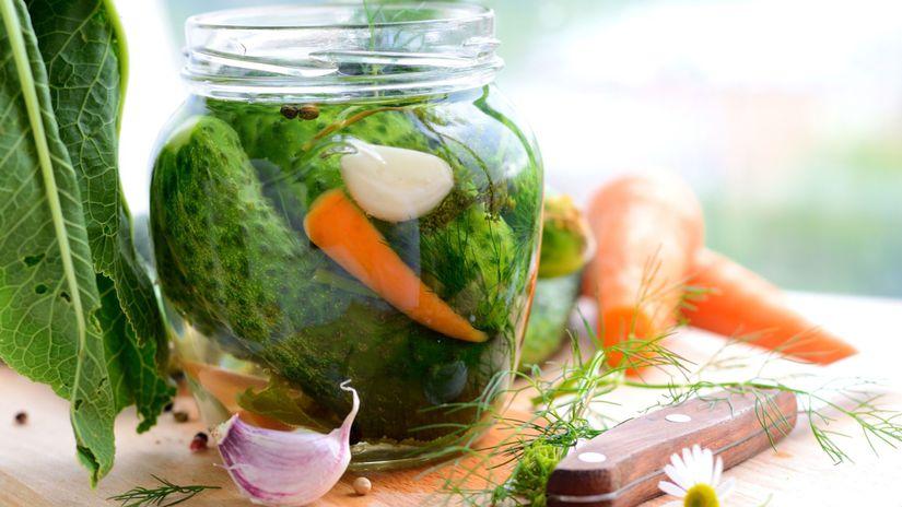 nakladané uhorky, zaváranie
