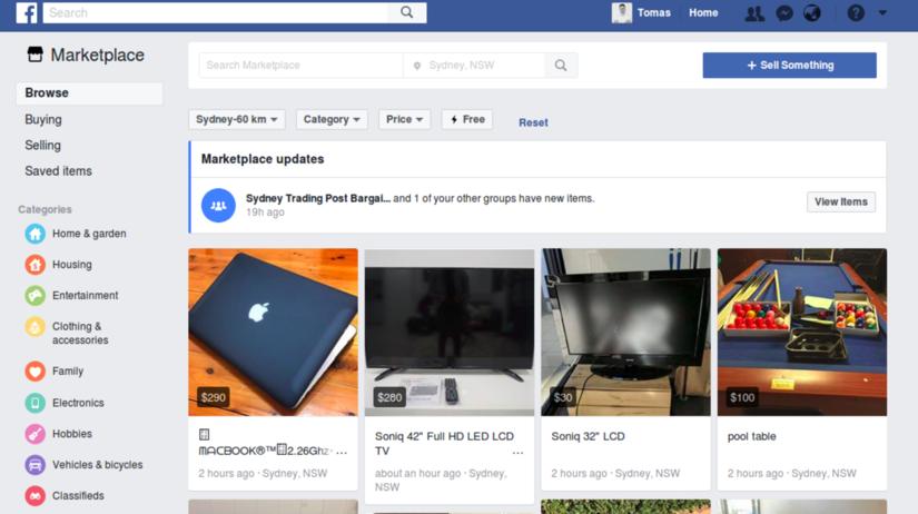 Facebook, Marketplace