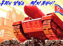severná Kórea, propaganda, plagát, anti USA