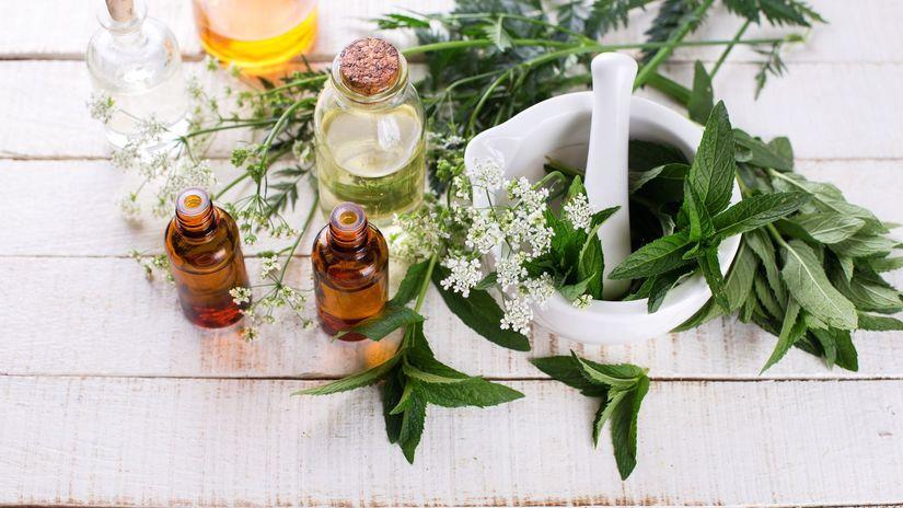 esenciálne oleje, bylinky,