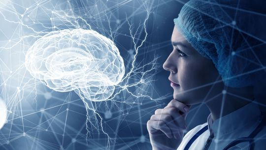 mozog, žena, hlava