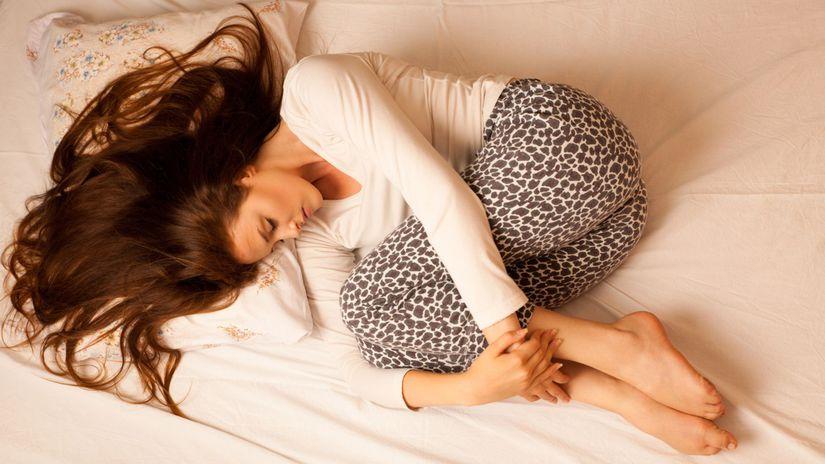 žena, spánok, oddych