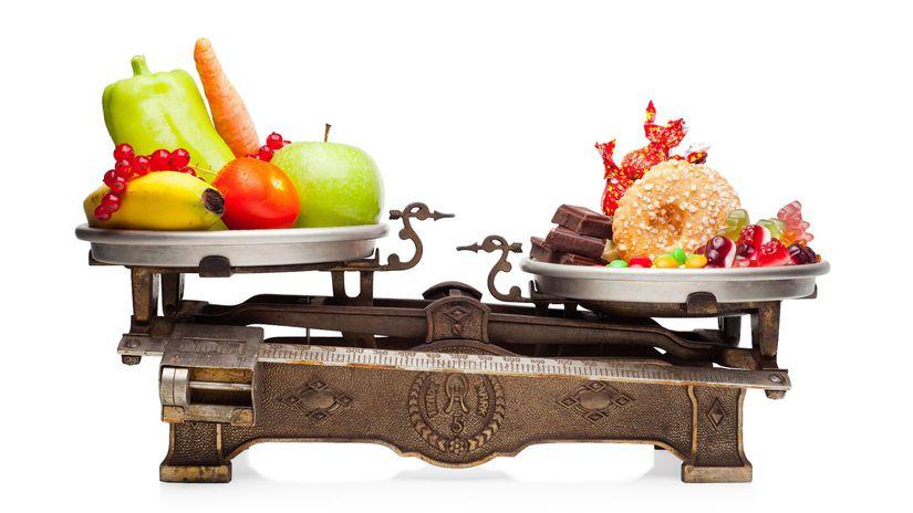 obezita, jedlo, strava, cukor, ovocie, sladkosti