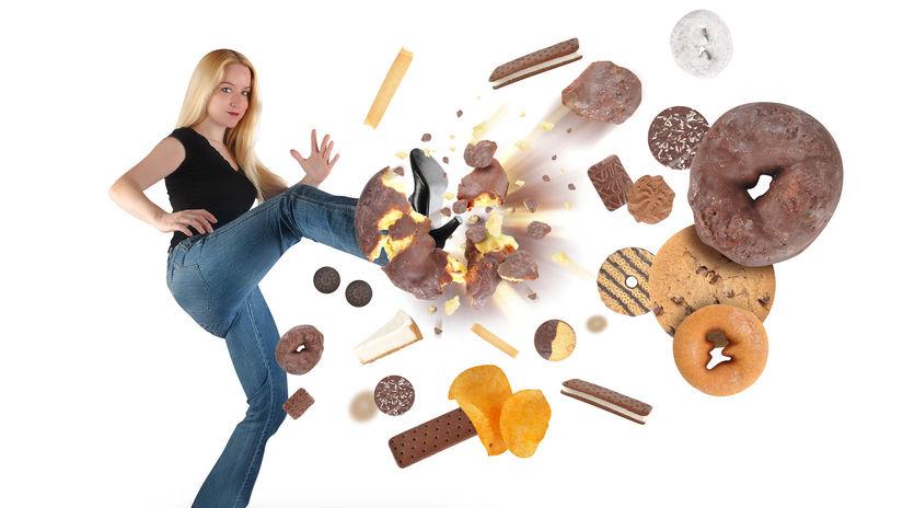 sladkosti, tuk, cukor, obezita