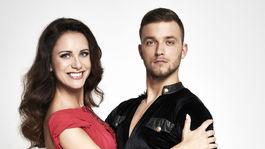 Televízna moderátorka Lenka Vavrinčíková a jej partner Adam Brešťanský.