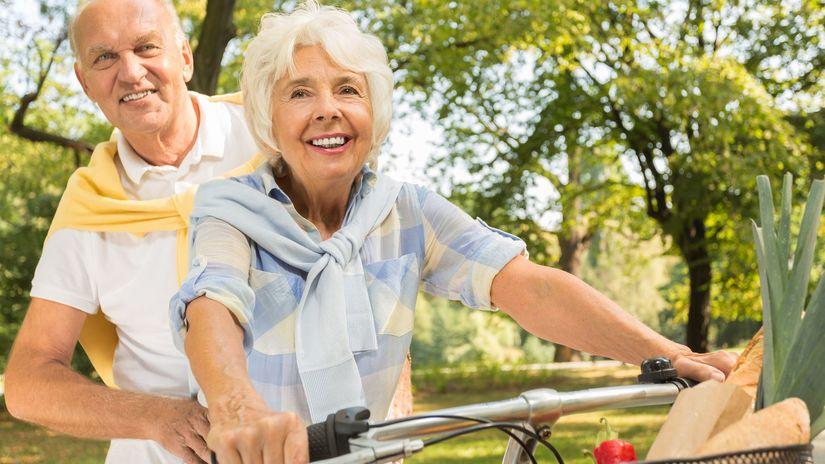 dôchodok, dôchodca, bicykel