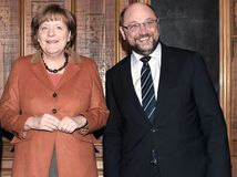 Merkelová, Schulz