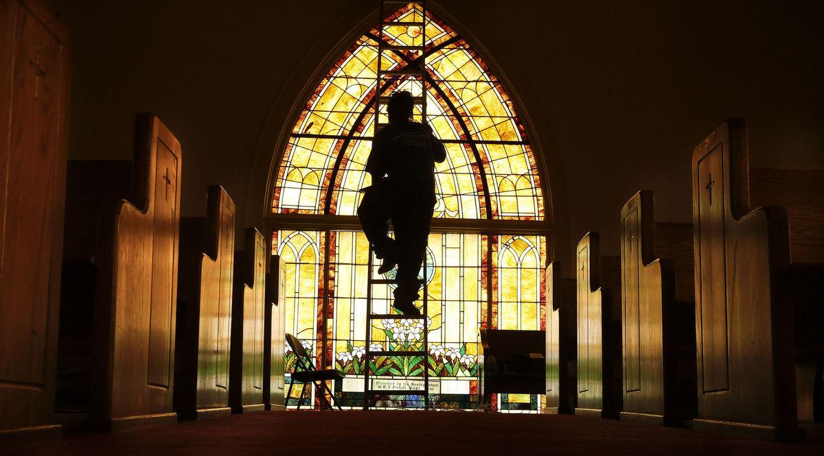 Alabama, kostol, chrám, okno, vitráž