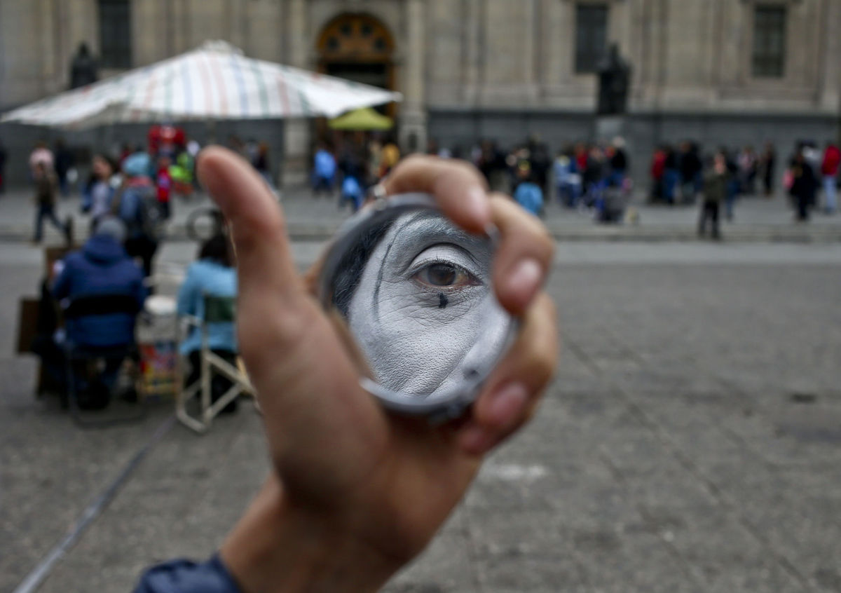Čile, zrkadlo, zrkadielko, mím, oko, tvár,